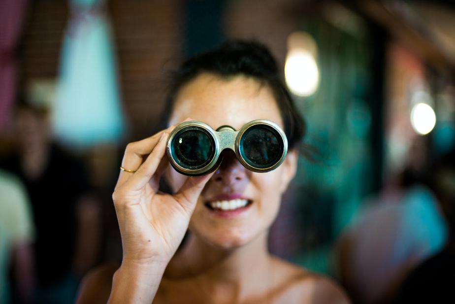 jobs for writers searching woman binoculars