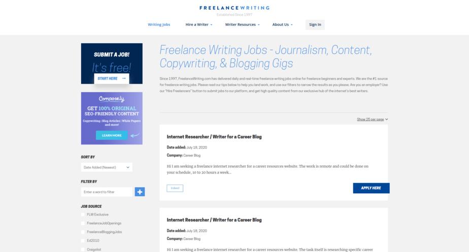 Freelance Writing Jobs FreelanceWriting