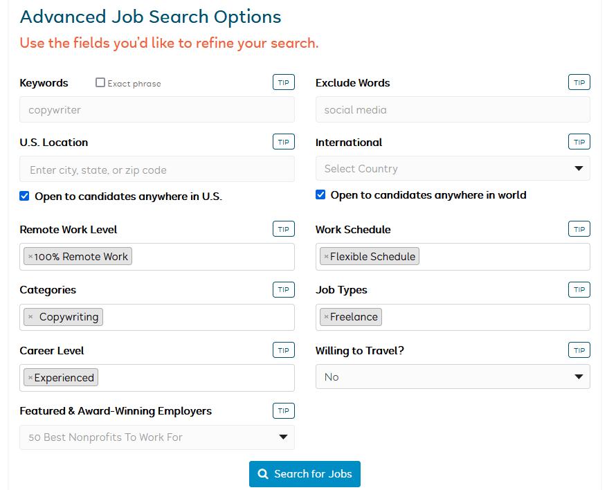 is flexjobs legit advanced job search options