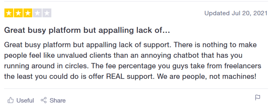 review of upwork neutral