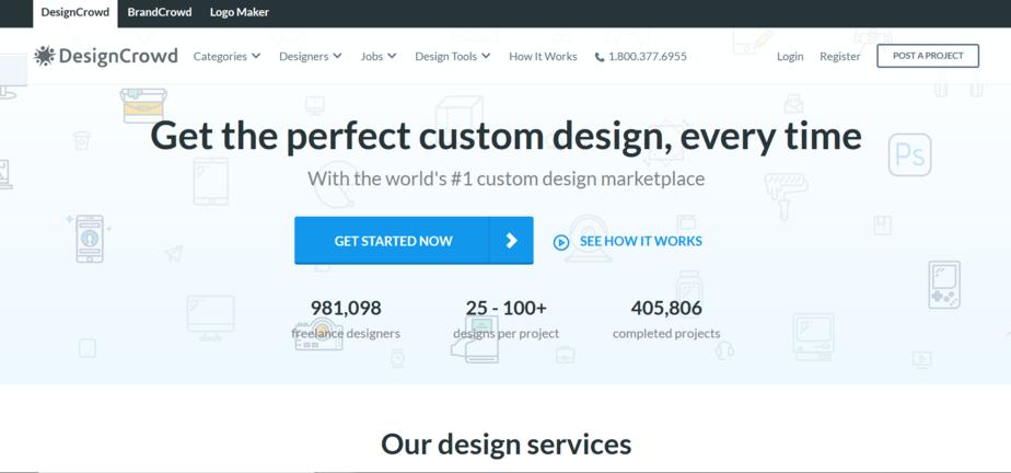 sites similar to upwork design crowd