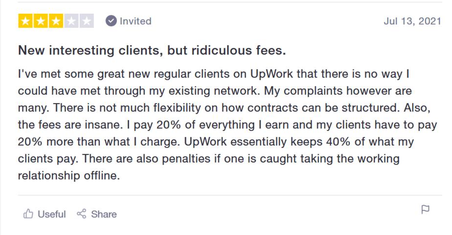 upwork reviews neutral