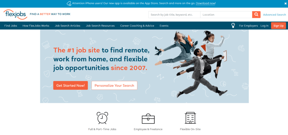 websites like upwork flexjobs