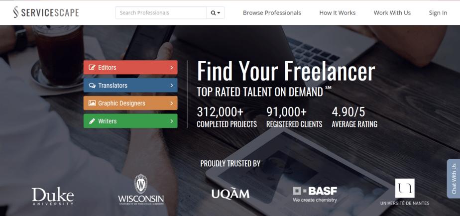websites like upwork servicescape
